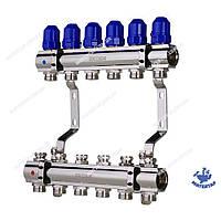 Коллекторный блок с термостатическими клапанами KOER KR.1100-06 1 x6 WAYS