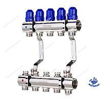Коллекторный блок с термостатическими клапанами KOER KR.1100-05 1 x5 WAYS