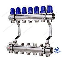 Коллекторный блок с термостатическими клапанами KOER KR.1100-07 1 x7 WAYS