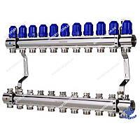 Коллекторный блок с термостатическими клапанами KOER KR.1100-11 1 x11 WAYS