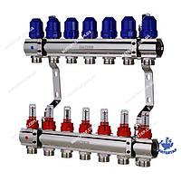 Коллекторный блок с расходомерами KOER KR.1110-07 1 x7 WAYS