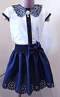 """Школьная нарядная блузка """"Брошка"""", фото 1"""