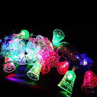 Гирлянда «колокольчики», электрическая, светодиодная, 40 led лампочек, длина изделия 4,5 м, питание 220в