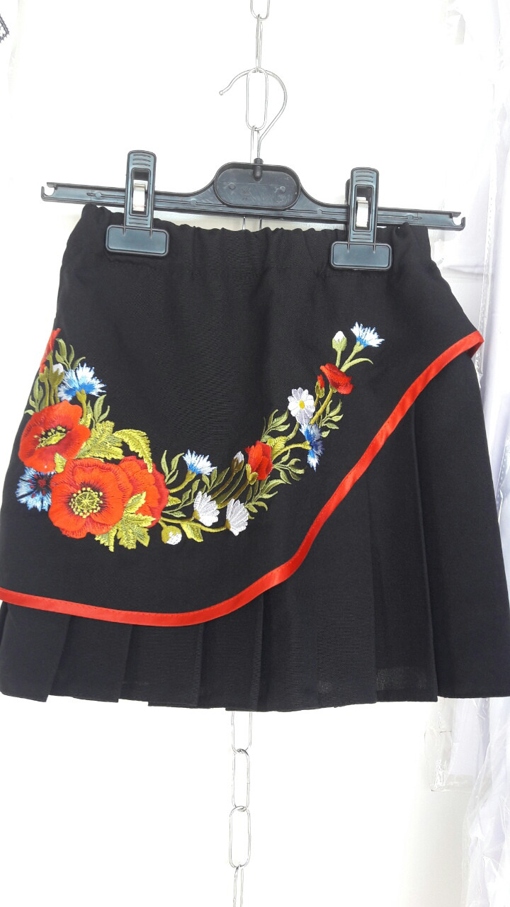 Детская  вышитая юбка опт107