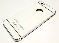 Чехол для iPhone 6 / 6s алюминиевый бампер с пластиковой задней крышкой матовый белый, фото 1