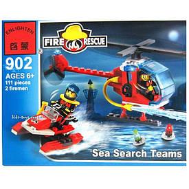 Конструктор Enlighten Пожежний вертоліт і водний скутер 111 дет. (902)