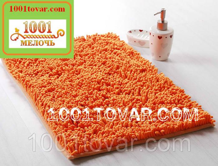 """Коврик из микрофибры """"Макароны или дреды"""" для широкого применения, 80х50 см., оранжевый"""