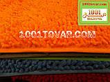 """Коврик из микрофибры """"Макароны или дреды"""" для широкого применения, 80х50 см., оранжевый, фото 2"""