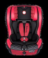 """Автокресло """"LO-JASPER Leather"""" 9-36кг, красный, 5-ти точечное крепление, группа 1-2-3 (9-36кг), регулировка наклона спинки, тип установки- против хода"""