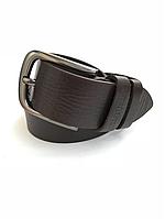 Мужской кожаный ремень Cinturify под джинсы 105-130см. Коричневый.