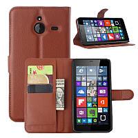 Чехол IETP для Microsoft Lumia 640XL книжка кожа PU коричневый