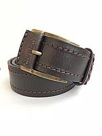 Мужской кожаный коричневый ремень Cinturify под джинсы,длина105-125см,ширина 3.7см.