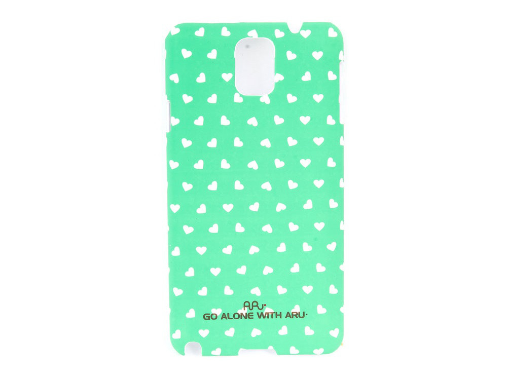 Чехол ARU для Samsung Galaxy Note 3 Hearts Green