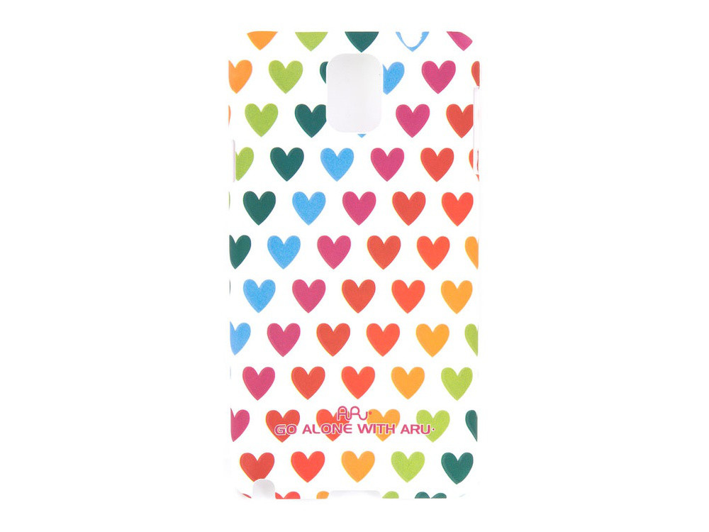 Чехол ARU для Samsung Galaxy Note 3 Hearts Rainbow