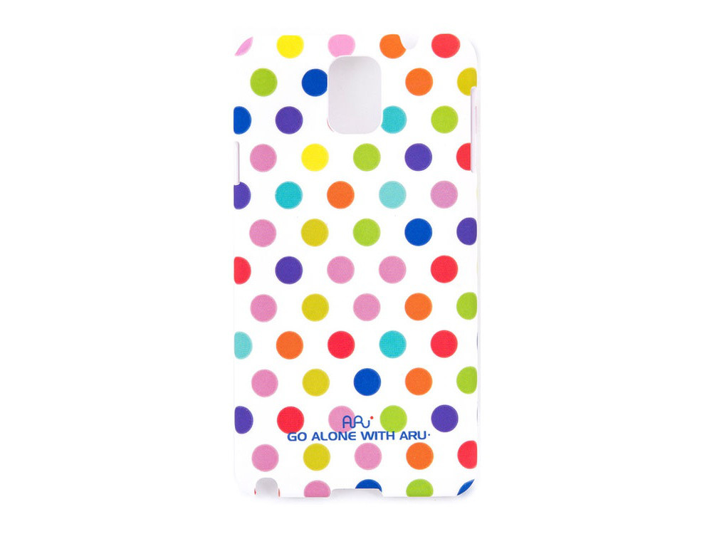 Чехол ARU для Samsung Galaxy Note 3 Cutie Dots White Rainbow