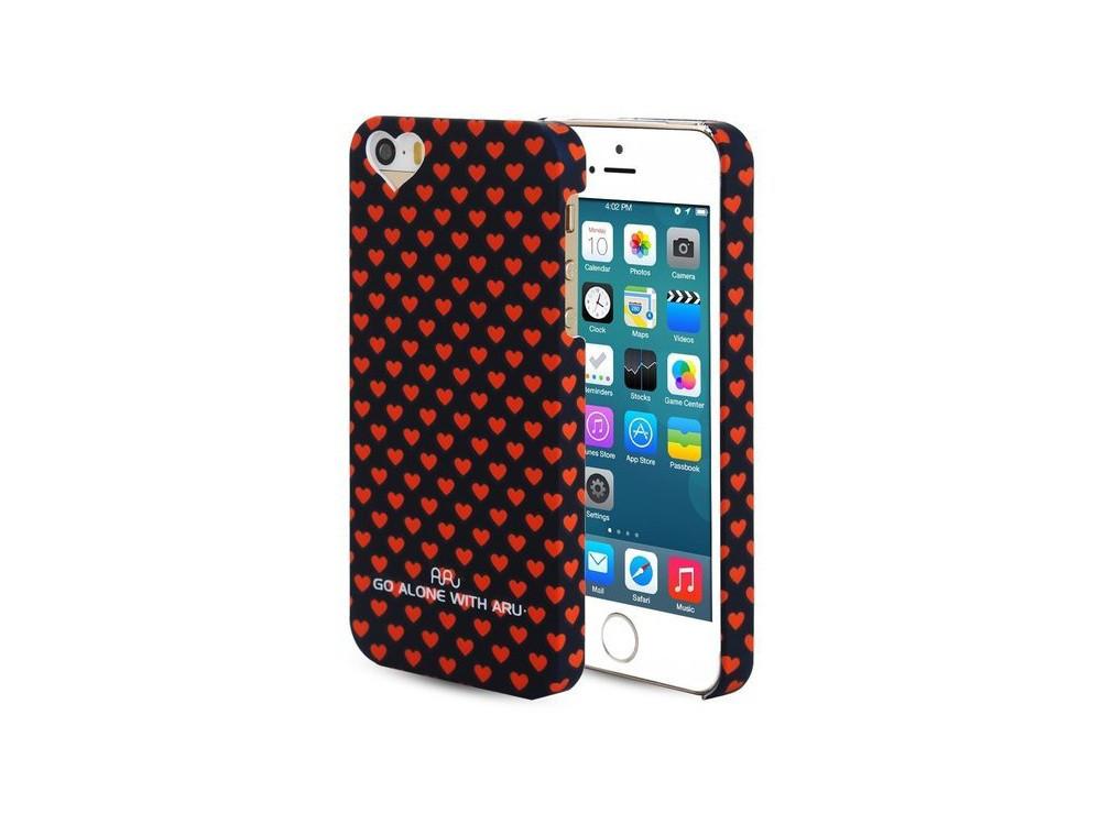 Чехол ARU для iPhone 5/5S/5SE Hearts Dark Blue