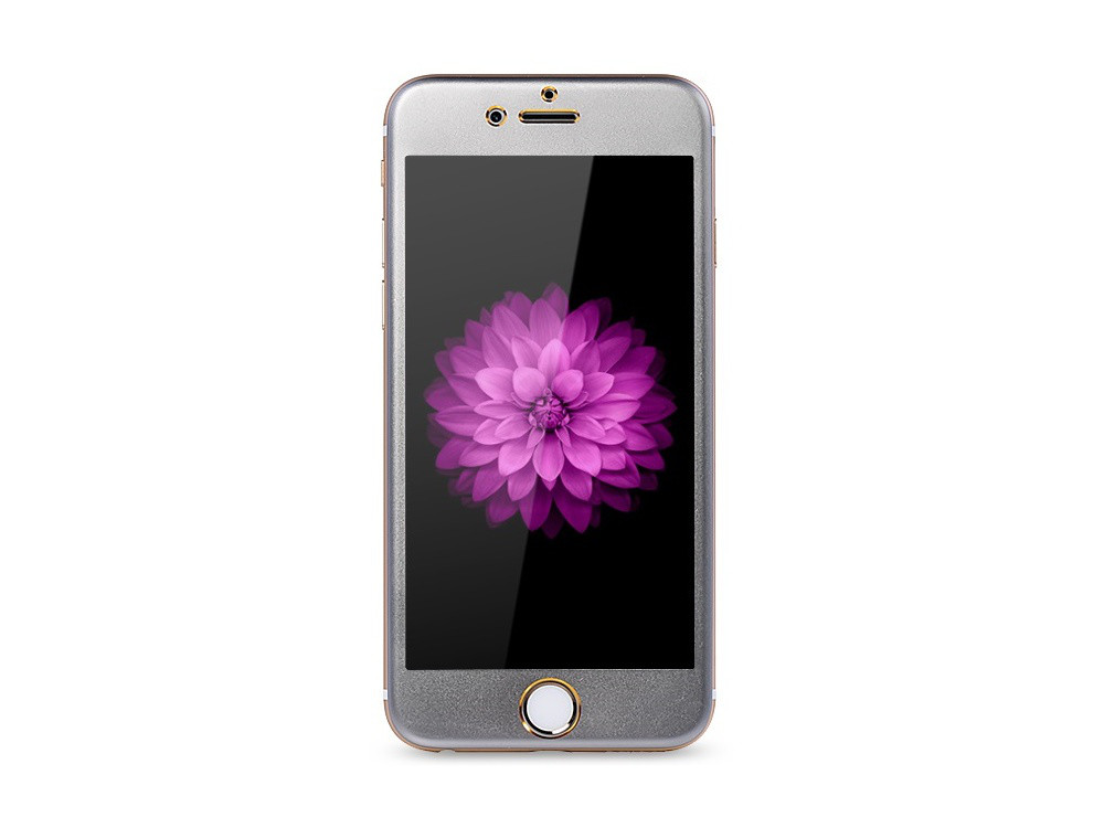 Защитное cтекло Remax для Apple iPhone 6 Metal Space Gray, 0.2mm, 9H