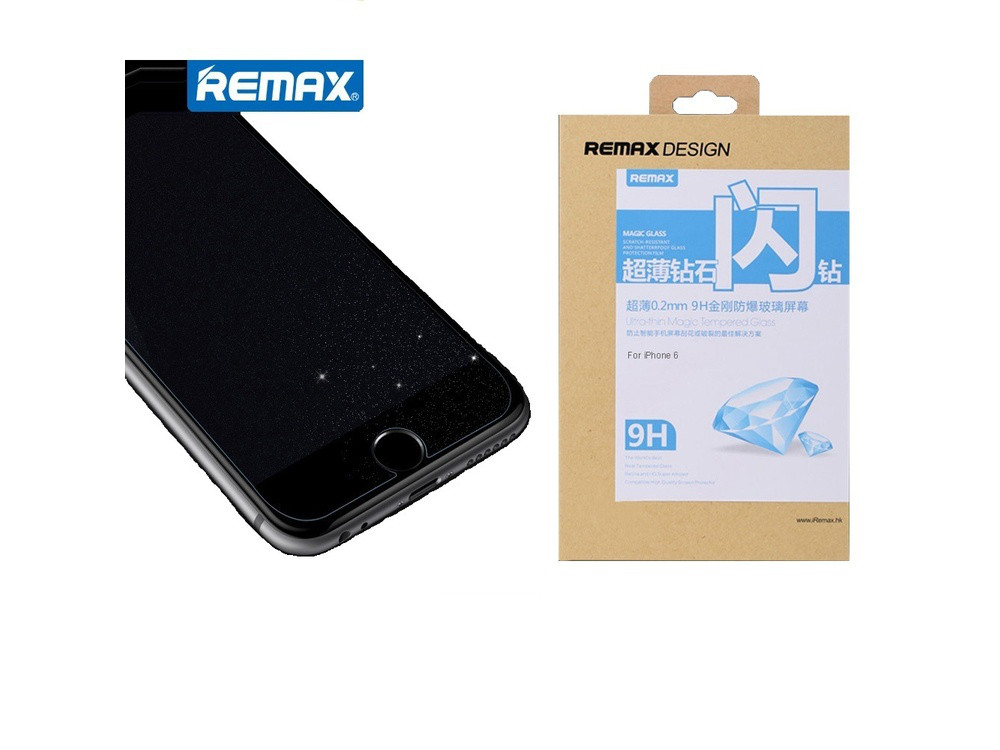 Защитное cтекло Remax для Apple iPhone 6 Diamond, 0.2mm, 9H