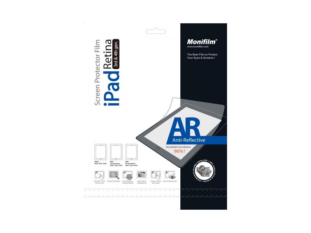 Защитная пленка Monifilm для Apple iPad 2, New iPad 3, iPad 4, AR - гл