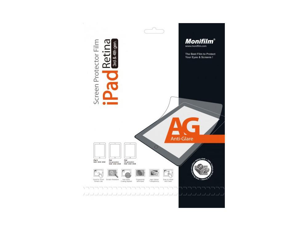 Защитная пленка Monifilm для Apple iPad 2, New iPad 3, iPad 4, AG - ма