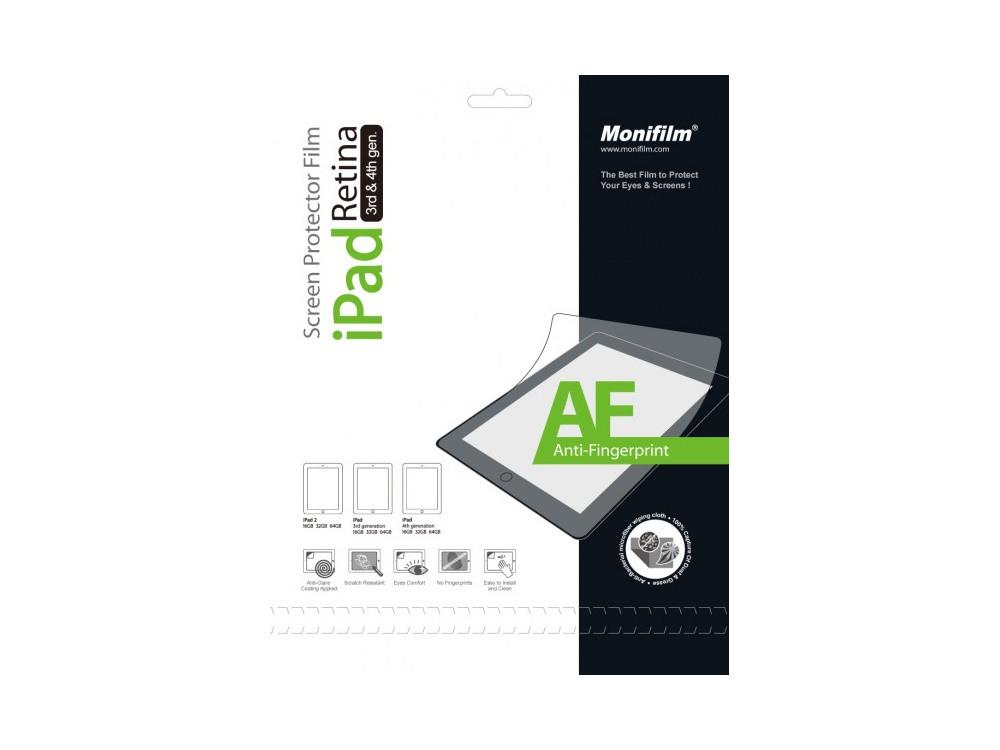 Защитная пленка Monifilm для Apple iPad 2, New iPad 3, iPad 4, AF - ма