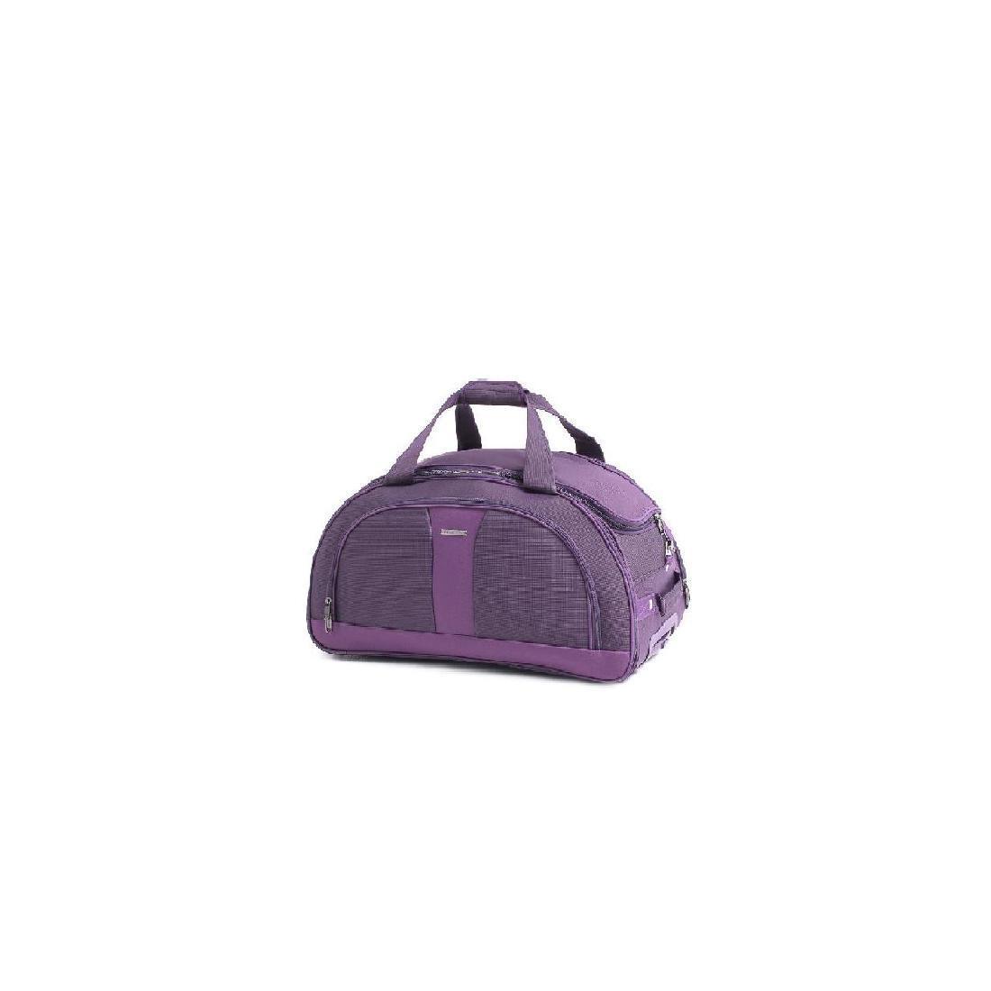 Сумка на колёсах дорожная пурпурная MY TRAVEL формованная, 50х29х32 см  ксТ400-20ф