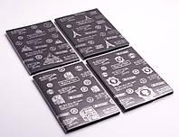 Блокнот, лінія, чорні листи, А5, в асортименті, фото 1