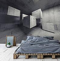 """3Д фотообои на стену """"Бетонные кубы"""""""