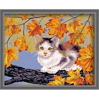 """Картина по номерам """"Непослушный котенок"""" 40х50 см."""