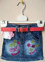 Юбка джинсовая для девочки. На 1 год