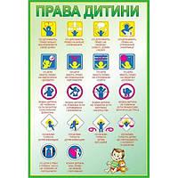 Стенд Права дитини (зелений контур)