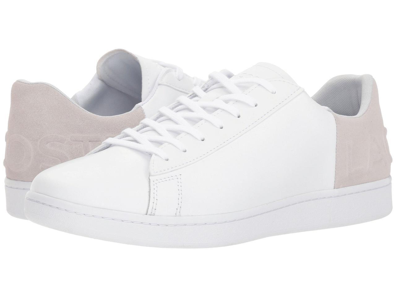 Кроссовки Кеды (Оригинал) Lacoste Carnaby Evo 318 6 White Light Grey ... 6c578cd5819