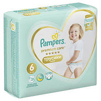 Трусики Pampers Premium Care Pants 6 Extra Large (15+ кг) 31шт АКЦИЯ