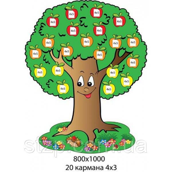Стенд Уголок самооценки Яблонька с яблочками