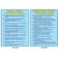 Стенд Права и обязанности учеников (голубой)