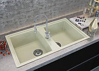 Кухонная мойка двойная Palermo 850*500 исcкуственый мрамор