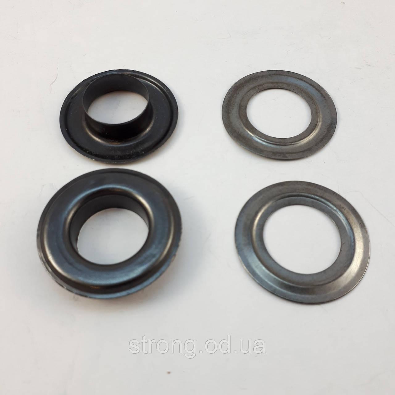Блочка-Люверс №28 Темный никель 14мм (500шт.)