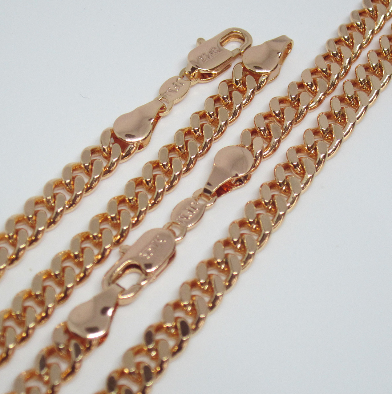 Цепочка+ браслет плетение Панцирное 56 см H-5 мм браслет 20 см под советское золото