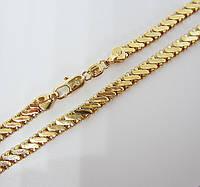 Цепочка плетение Серпантин H-6 мм длина 60 см позолота 18К