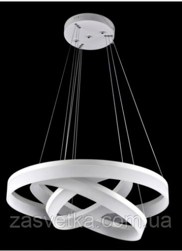 Люстра подвес светодиодная 901 (80см) (белая,черная)