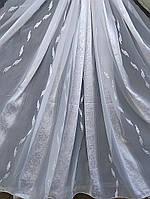 Шифоновый тюль с белыми вертикальными вставками (Китай), фото 1