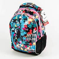 Оптом школьный/прогулочный рюкзак для девочек - голубой - 18018, фото 1