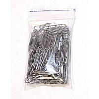 Скрепки канцелярские 25мм 100шт  в zip пакете
