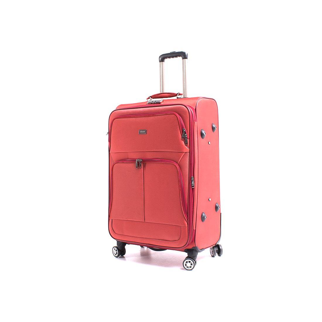 Чемодан большой Yunzhongniao 46х70х30(4) красный, 4 колеса с расширением,  кс786-2/28кр