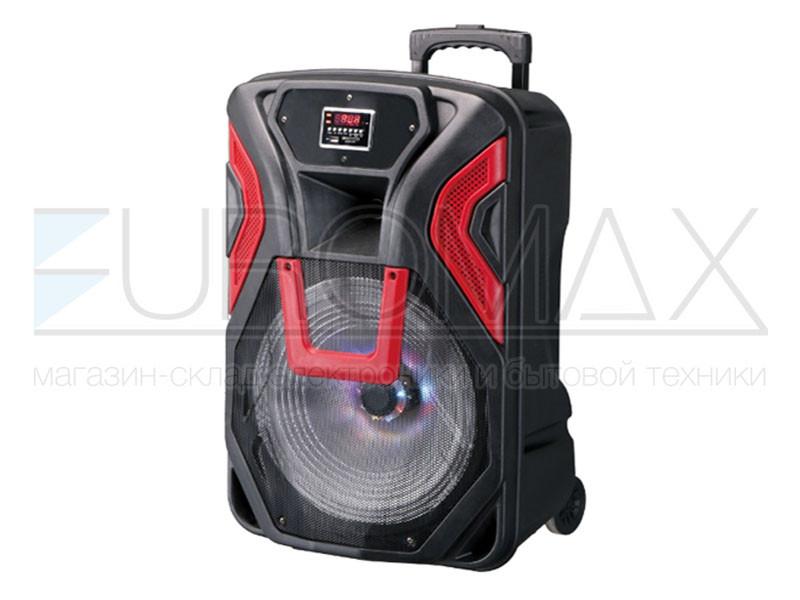 Акустическая переносная колонка EUROMAX 46х40х74см 15 дюймов 60Вт USB/SD/FM/BT/MIC EU-1503