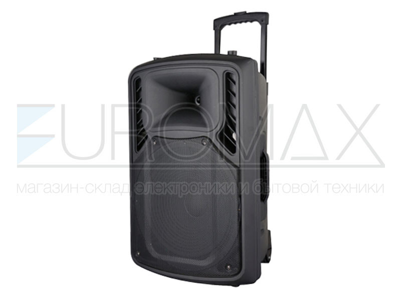 Акустическая переносная колонка EUROMAX 46х41х70см 15 дюймов 55Вт USB/SD/FM/BT/MIC EU-1506