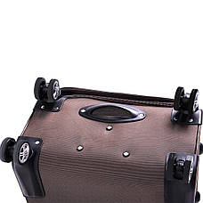 Чемодан с расширением Yunzhongniao средний 41х60х28 (+4),  4 колеса коричневый кс786-2/24кор, фото 2