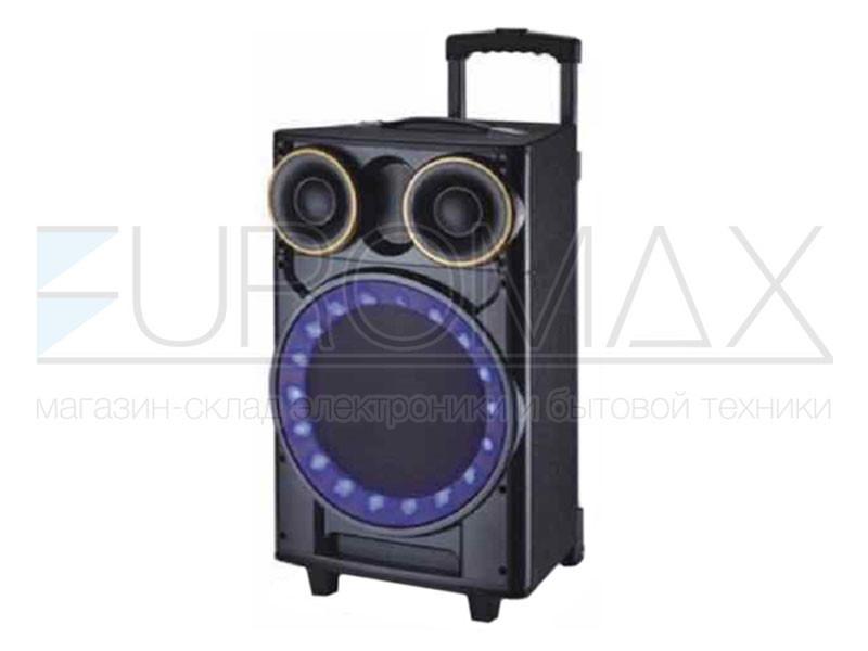 Акустическая переносная колонка EUROMAX 42х43х73см 12 дюймов 120Вт USB/SD/FM/BT/MIC EU-1207