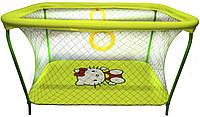 Манеж детский игровой KinderBox люкс Желтый Hello Kitty с крупной сеткой (km70)