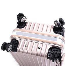 Валіза BagHouse пластиковий 4 колеса 47х66х32 колір рожева карамель кс801бш, фото 3